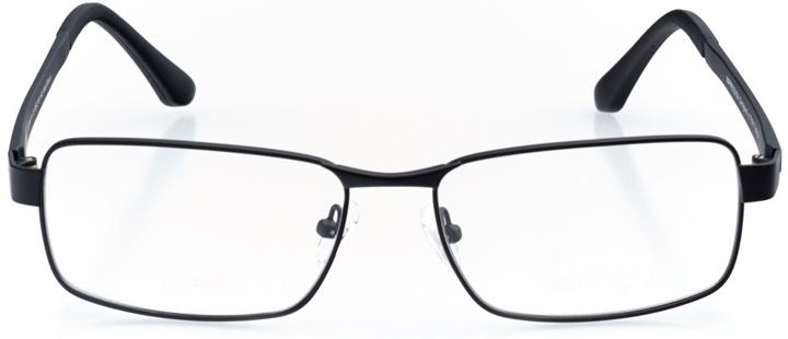 fira: men's rectangle eyeglasses in black - front view