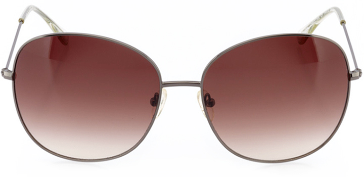 paris: women's rectangle sunglasses in brown - front view