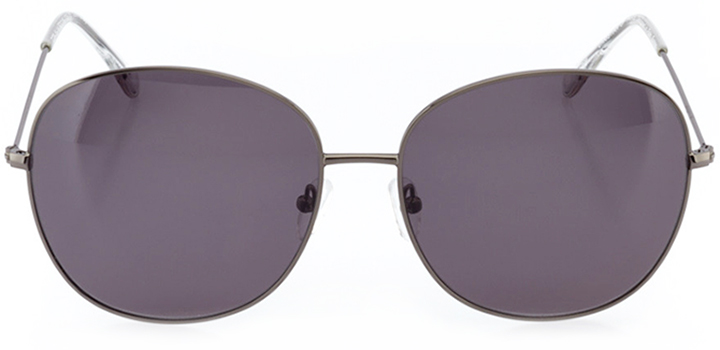 paris: women's rectangle sunglasses in gray - front view