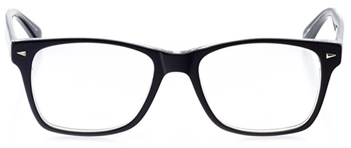 catania: men's square eyeglasses in black - front view