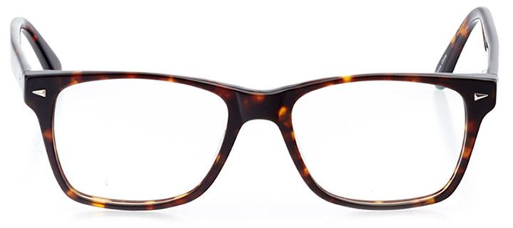 catania: men's square eyeglasses in tortoise - front view