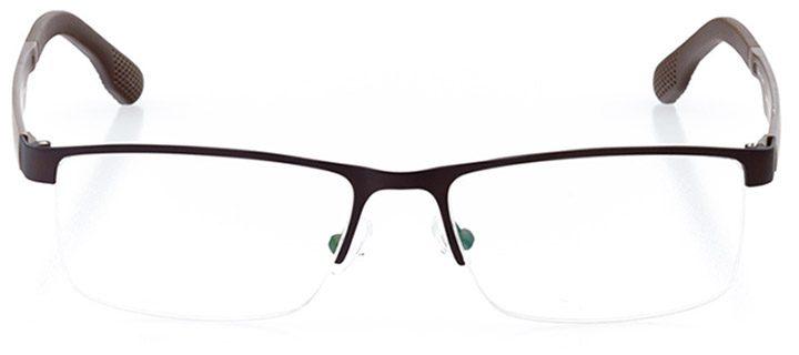 soho: men's rectangle eyeglasses in brown - front view