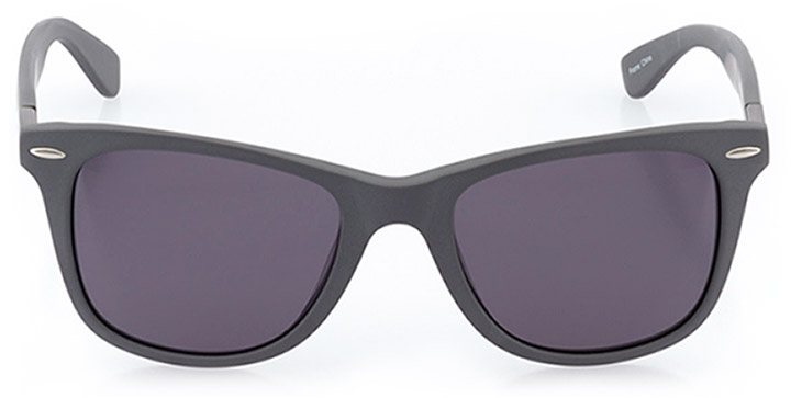 wallisellen: unisex square sunglasses in gray - front view