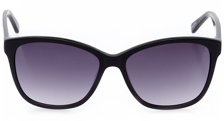 lausanne: women's butterfly sunglasses in black - front view
