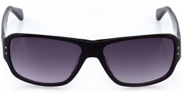 perugia: men's rectangle sunglasses in black - front view