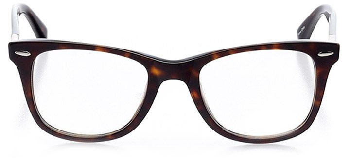 riehen: unisex square eyeglasses in tortoise - front view
