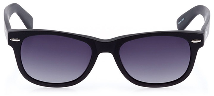 neuhausen: unisex square sunglasses in black - front view