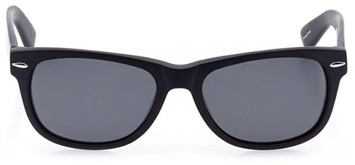 ebikon: unisex square sunglasses in black - front view