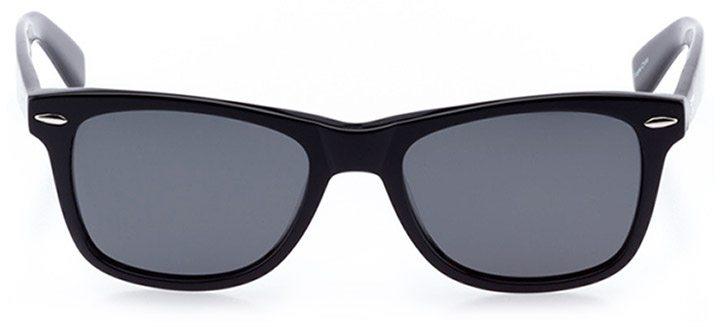 zermatt: unisex square sunglasses in black - front view