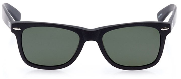 zermatt: unisex square sunglasses in black - front view