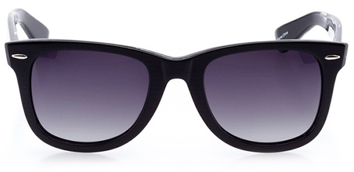 vitznau: unisex square sunglasses in black - front view