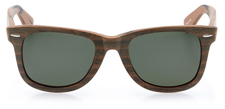 vitznau: unisex square sunglasses in brown - front view