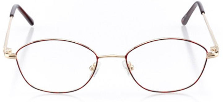 bar harbor: women's cat eye eyeglasses in red - front view