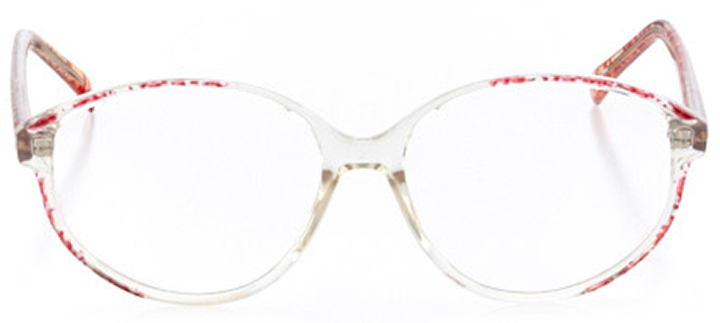 savannah: women's round eyeglasses in pink - front view