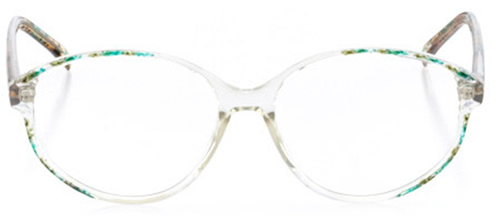 savannah: women's round eyeglasses in green - front view