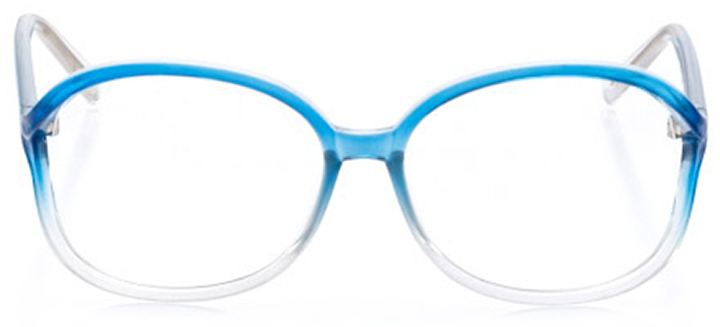 mystic: women's oval eyeglasses in blue - front view