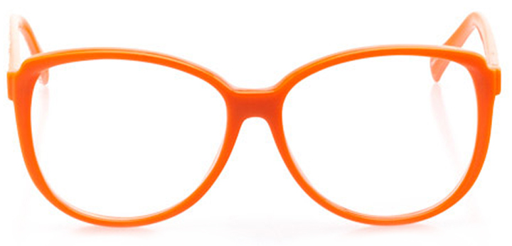 wildwood: women's square eyeglasses in orange - front view
