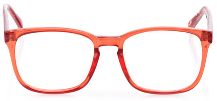 ashland: women's square eyeglasses in purple - front view