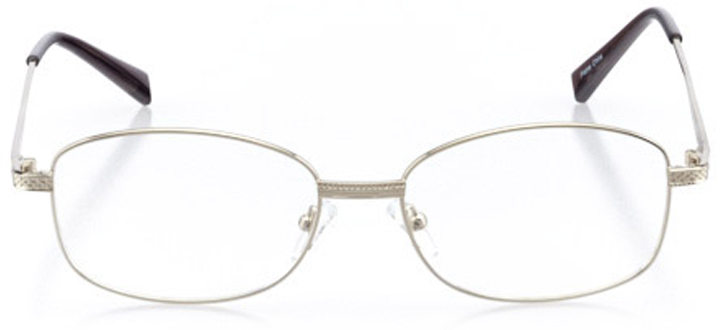 avalon: men's square eyeglasses in silver - front view