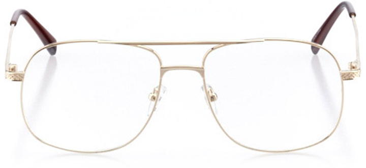 cape may: men's square eyeglasses in gold - front view
