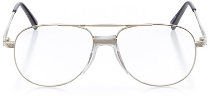ketchum: men's aviator eyeglasses in silver - front view