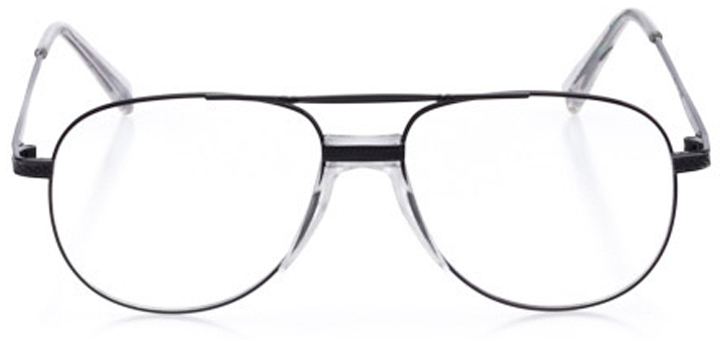 ketchum: men's aviator eyeglasses in black - front view