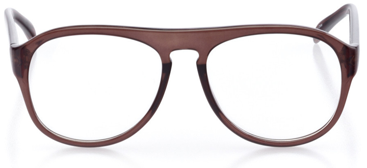 galveston: men's aviator eyeglasses in black - front view