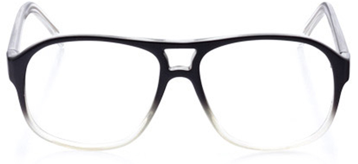 burlington: men's square eyeglasses in black - front view