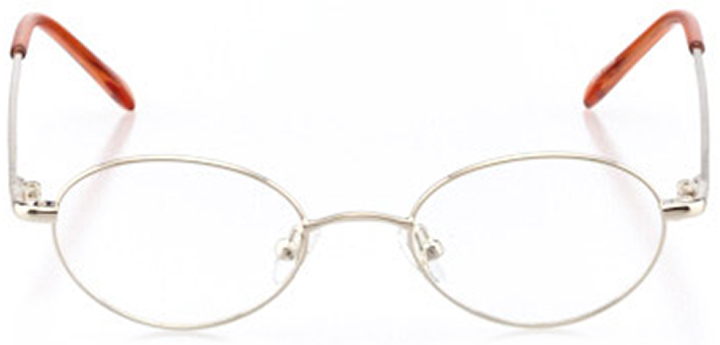 newport: oval eyeglasses in gold - front view