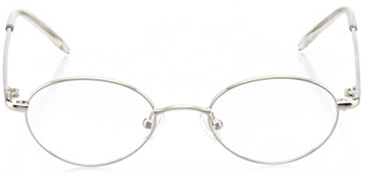 newport: boys' oval eyeglasses in silver - front view