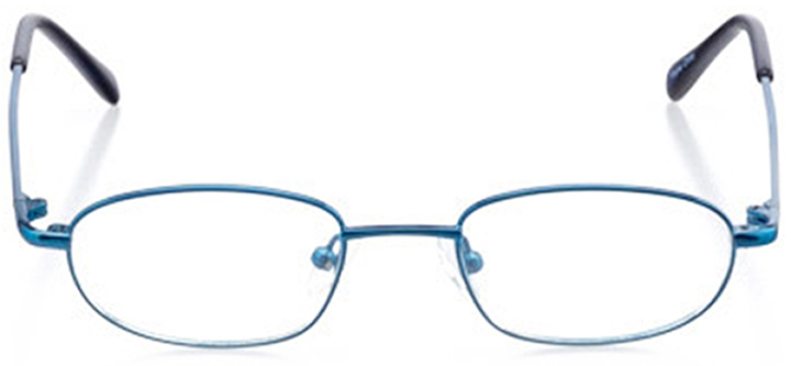 ithaca: oval eyeglasses in blue - front view