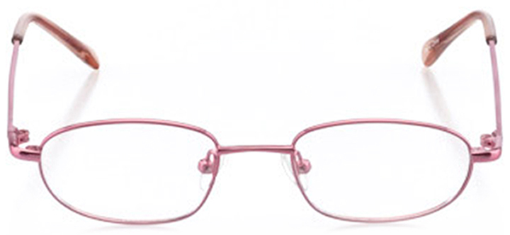 ithaca: girls' oval eyeglasses in pink - front view