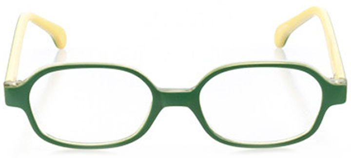 winslow: oval eyeglasses in green - front view