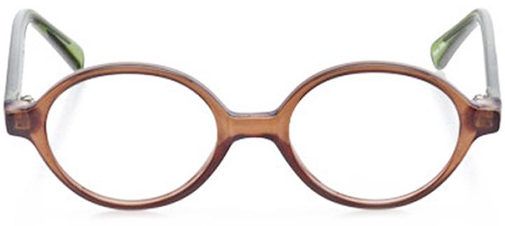 essex: boys' round eyeglasses in brown - front view