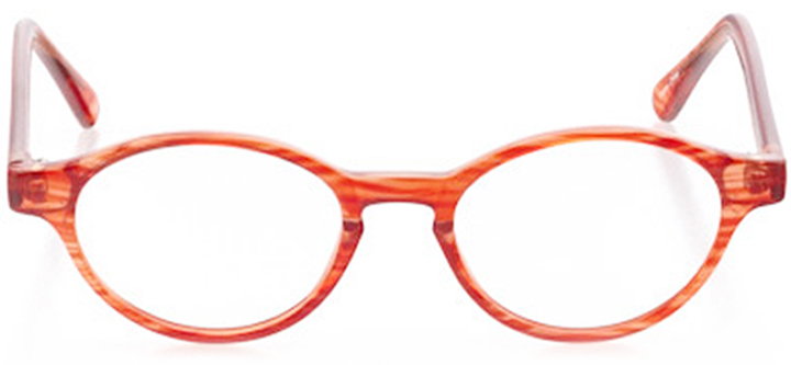 cumberland: oval eyeglasses in orange - front view