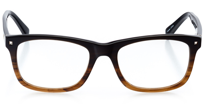 st. louis: men's square eyeglasses in brown - front view