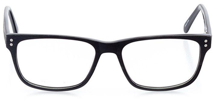 rockville: men's square eyeglasses in black - front view