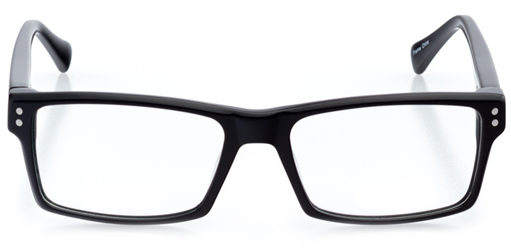 knoxville: men's rectangle eyeglasses in gray - front view