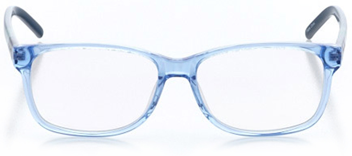 marseille: women's square eyeglasses in blue - front view