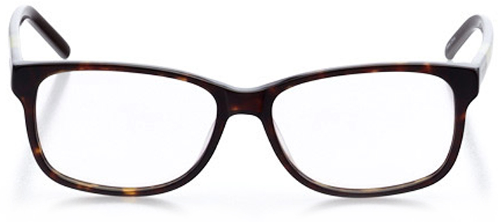 marseille: women's square eyeglasses in brown - front view