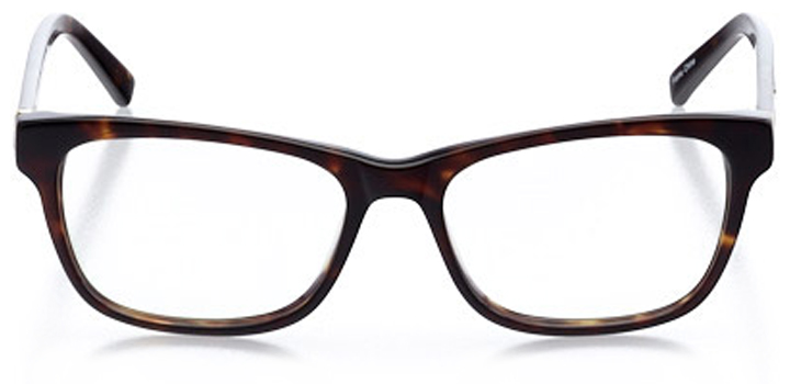 nashville: women's square eyeglasses in tortoise - front view