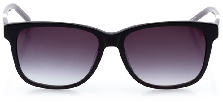 bridgeport: women's rectangle sunglasses in black - front view