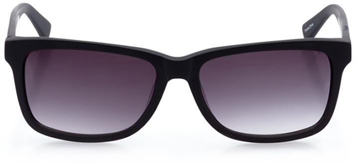 lugano: women's square sunglasses in black - front view