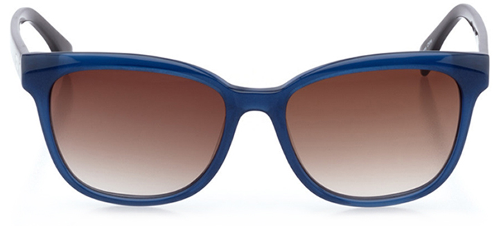 montreux-vevey: women's butterfly sunglasses in blue - front view