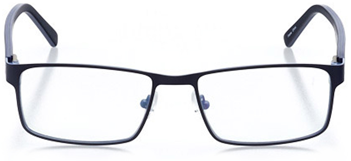 kent: men's rectangle eyeglasses in blue - front view