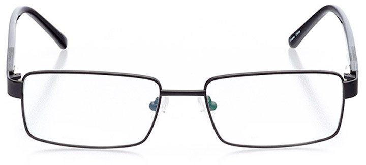 whitby: men's rectangle eyeglasses in black - front view
