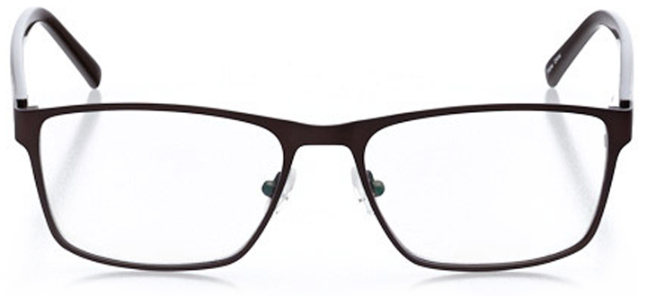 engelberg: men's square eyeglasses in brown - front view
