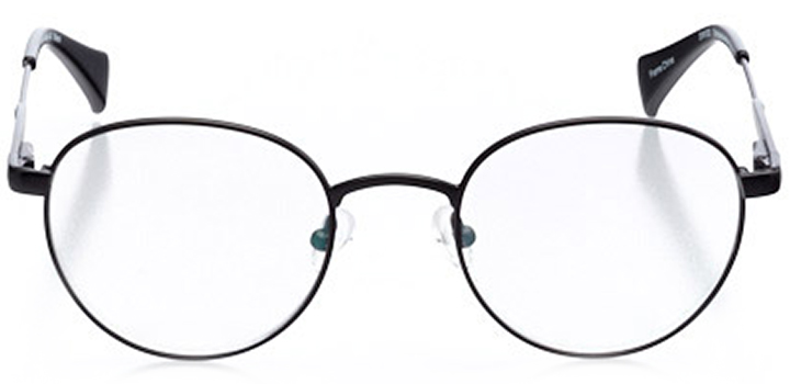 st. gallen: men's round eyeglasses in black - front view