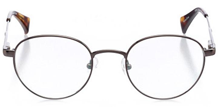 st. gallen: men's round eyeglasses in gray - front view