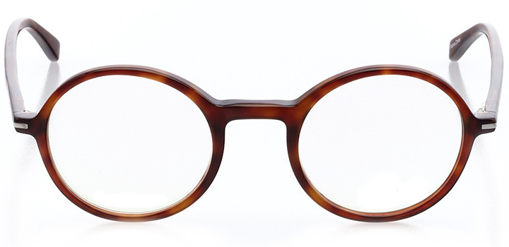 sion: round eyeglasses in brown - front view